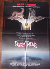 Deadly Friend, Movie Poster, Kristy Swanson *Wes Craven*, '86